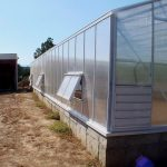 Building a polycarbonate Cross Country greenhouse, polycarbonate greenhouse
